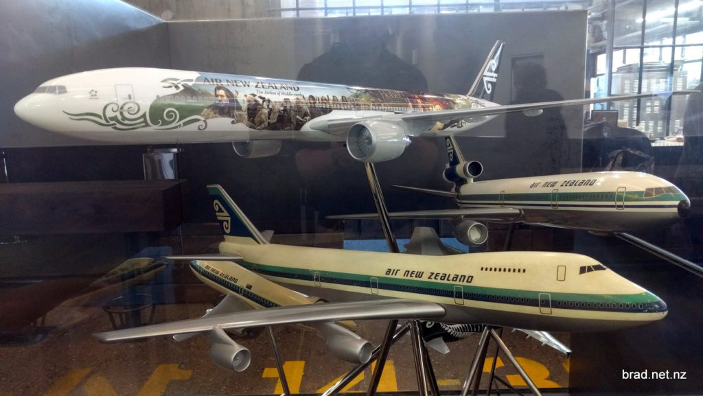 Old and New Air NZ Planes