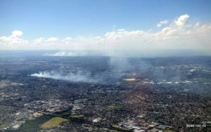 Smoke from fires over Western Sydney