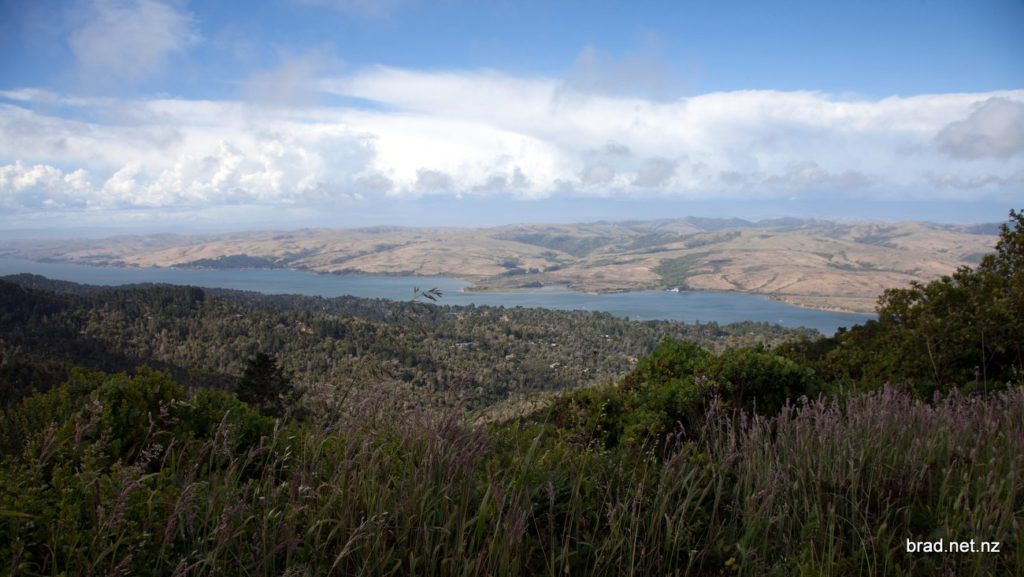 San Andreas Fault running directly under Tomales Bay
