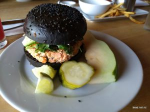 Salmon Burger at New Scenic Cafe